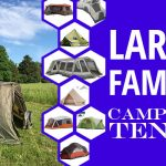 A picture of a Varanger Camp 8-10 and other tents in smaller honeycomb with the caption - Large family camping tents