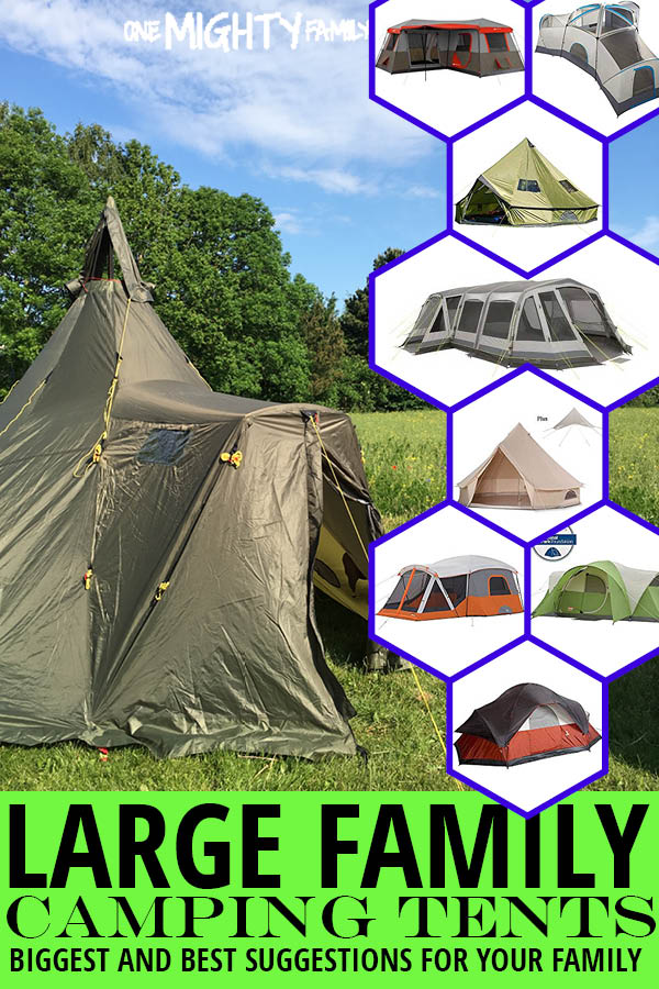 a collage of pictures of large family tents, with the camping large family tents - biggest and best suggestions for your family