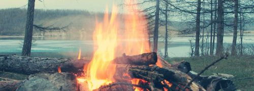 One mighty family - fire at the lake